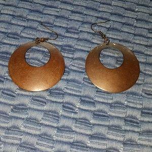 """1 1/2 """" Aluminum earrings."""